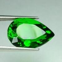 Wholesale Normal Faceted Green Chrome Diopside Pear , 5x3mm 0.23 Carats from china suppliers