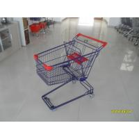 Buy cheap Safety Plastic 75L Retail Wire Shopping Cart With Easy Pushing Handle from wholesalers