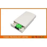 Wholesale FTTH Fiber Optic Distribution Box Faceplate ABS Plastic White from china suppliers