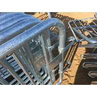 Wholesale Crowd Control Barriers Hot Dipped Galvanized One Male/Female Hook Barriers 1100mm x2300mm Barriers from china suppliers