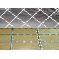 China BTO -22 Razor Barbed Wire With Post For Wire Mesh Fencing on sale