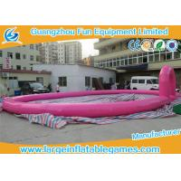 Wholesale Pink Inflatable Football Field 15 * 10 M , Inflatable Race Track For Land Zorb Balls from china suppliers