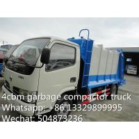 Wholesale hot sale small garbage compactor truck, 4cbm dongfeng refuse garbage truck, garbage truck supplier from china suppliers