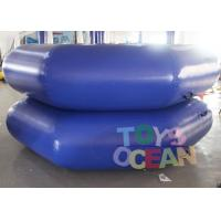 Wholesale DIA 3M Dark Blue Inflatable Water Game Inflatable Floating Water Trampoline from china suppliers
