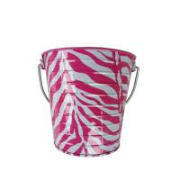"Wholesale Metal Pail 5 x 5.6"" Zebra Printed Tin Metal Bucket With Handle from china suppliers"