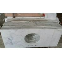 Wholesale Marble Bathroom Tops to Guangxi White Marble Vanity Tops China Carrara Marble Countertop from china suppliers