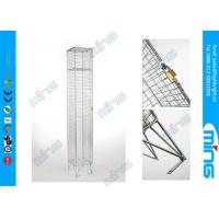Wholesale Single Door Metal Wire Rack, Zinc Plated Wire Mesh Lockers Wire Display Stands from china suppliers