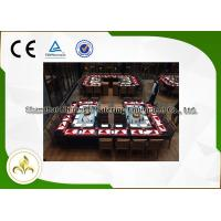 Wholesale Stainless Steel Rectangle Shape Gas Teppnayaki Grill Table Back-to-Back Double Stove from china suppliers