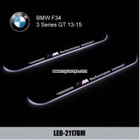 Wholesale BMW F34 GT car door welcome lights LED Moving Door sill Scuff for sale from china suppliers