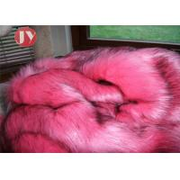 Wholesale Bubblegum Pink Faux Fur Fabric , Animal Print Faux Fur Fabric Black Flecks 65mm from china suppliers