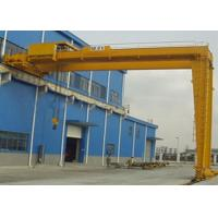 MBH Model Electric Single Girder Crane , Overhead Travelling Semi Gantry Crane