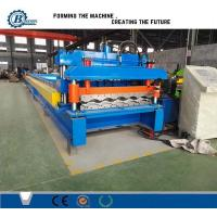 Quality 828 Type Glazed Steel Step Roof Tile Roll Forming Machine With Mitsubishi PLC Control for sale