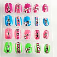 Buy cheap Custom Round / Square Diamond Fake Nails Silver Glitter Artificial Nail from wholesalers
