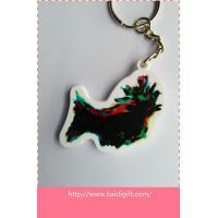 Wholesale PVC key ring with CMYK printing logo from china suppliers