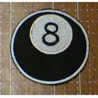 Wholesale 8 Ball Embroidered Iron On Patch from china suppliers