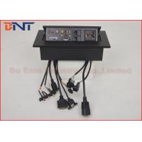 Wholesale Rectangular Conference Hidden Desk Pop Up Sockets with Bottom Connection Cables from china suppliers
