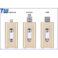 Buy cheap OTG External Data Storage 16GB Thumb Drive USB 3IN1 Smart Phone from wholesalers