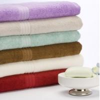 Wholesale Decorative Colorful Cotton Bamboo Towels , Custom Face / Hand / Bath Towels from china suppliers