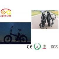 Wholesale Ladies Black 20 Inch Electric Folding Bike 500 Watt Battery Powered Bicycle from china suppliers