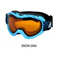 China 100% Uv Custom Ski Goggles ,Anti-Fog Kid's Ski Goggle , sports eyewear glasses from shenzhen on sale