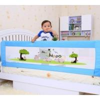 Wholesale 58cm Height Childrens Bed Guards Rails Little Hippo Pattern Easy Install from china suppliers