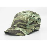 Wholesale 5 / 6 Panels Cotton Military Cap Camouflage With Metal Snap Fastener from china suppliers