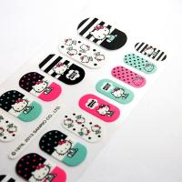 Wholesale Environment Friendly Finger Nail Stickers Attractive With Cute Hello Kitty Pattern from china suppliers
