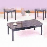 Wholesale Coffee Table with Handcraft Paint and 8mm Clear Glass Top from china suppliers