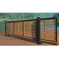 Wholesale Residential Wooden Cladded Motorized Automatic Cantilever slide Gate from china suppliers