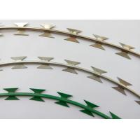 Wholesale NATO Razor Barbed Wire Strip With Hot Dipped Rolled Plate Blade Erosion Resistant from china suppliers
