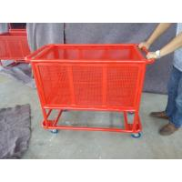 Wholesale Heavy Metal Supermarket Shopping Trolley / Collapsible Rolling Cart from china suppliers