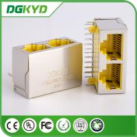 Wholesale DGKYD112Q089GWB4D CAT 5 2 Port RJ45 keystone jack with transformer from china suppliers