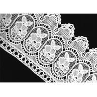 Wholesale White Floral Crochet Guipure Garment Water Soluble Lace with Polyester Material from china suppliers
