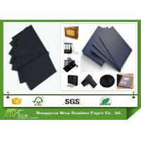 Wholesale Both Sides Coated Black Paperboard Stiffness 700 * 1000mm Black Cardboard Sheets from china suppliers