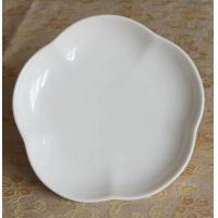 Wholesale Bone China white dessert plate flower petal shape from china suppliers