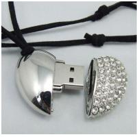 Wholesale mini crystal heart shape usb 2.0 flash drive jewelry 1GB 2GB 4GB 8GB 16GB    from china suppliers