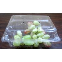Quality PET Salad Box Plastic Salad Bowls187mm ×140mm  For Cherry Box Grape Box for sale