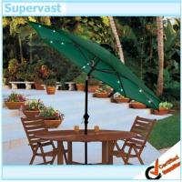 Wholesale Tilted Green Garden Gleam Commercial Patio Umbrella With Solar Lights from china suppliers