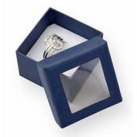 Wholesale Luxury Small Cardboard Gift Boxes Gift Ring Packaging 50x50x32mm With Clear Window from china suppliers