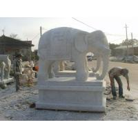 Wholesale Peaceful Elephant Carved Stone Status, Stone Carving for Mark in the Doorway from china suppliers