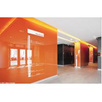 Quality Decorative Waterproof RAL 2001 Orange Classic Lacquered Glass , For Interior Applications for sale