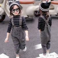Wholesale Brown Slim Staight Fit Kids Overall Jeans Casual Style Wear Resistant from china suppliers