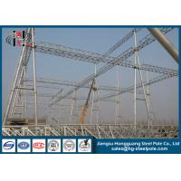 Buy cheap Hot Dip Galvanized / Painting Substation Steel Structures For Transmission Line Project from wholesalers