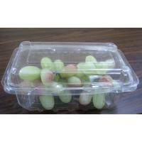 Wholesale Rectangular PET Fruit  Box  Disposable Salad Bowls 180mm × 110mm from china suppliers