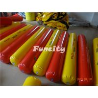 Wholesale Yellow / Red Color Inflatable Buoys For Water Park , Water Fence / Inflatable Buoys from china suppliers