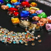 Buy cheap colorful crystal beads sewing beads crystal stone with metal claw setting from wholesalers