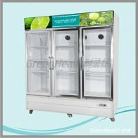 Quality Stainless Steel Upright Commercial Display Freezer -25°C With Vertical Light for sale