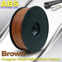 Wholesale High Strength ABS 3D Printer Filament 1.75mm /  3.0mm 732C Brown 1kg / Spool Filament from china suppliers