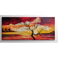 China Free shipping Framed 1Panel oil paintings 100% Hand Painted Landscape Wall art Home Decor framed art On Canvas op492 on sale