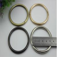 Wholesale Unique design Europe style 50 MM light gold wire iron metal o ring buckles from china suppliers